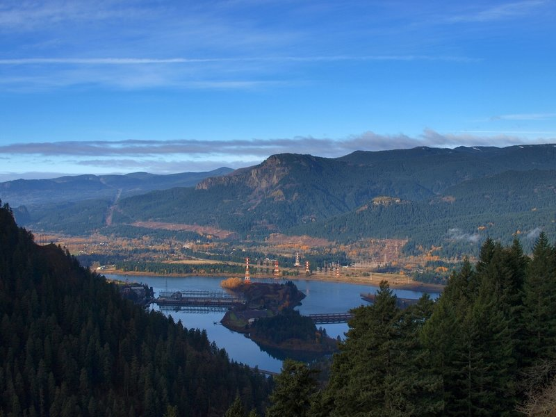Bonneville Dam from Ruckel Ridge