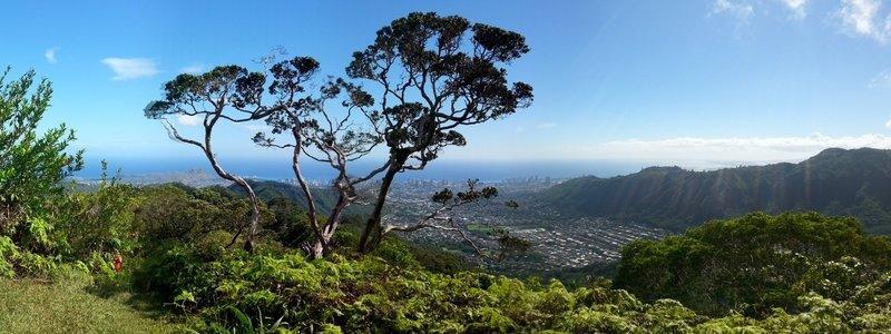 Diamond Head and Honolulu view