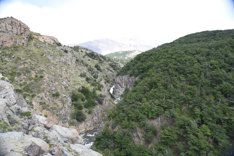 Approaching last waterfall