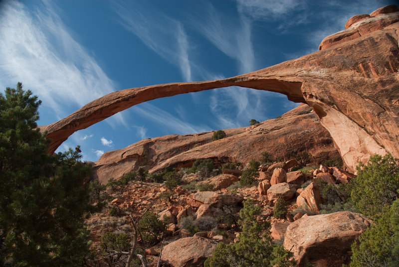Landscape Arch looking impossibly thin