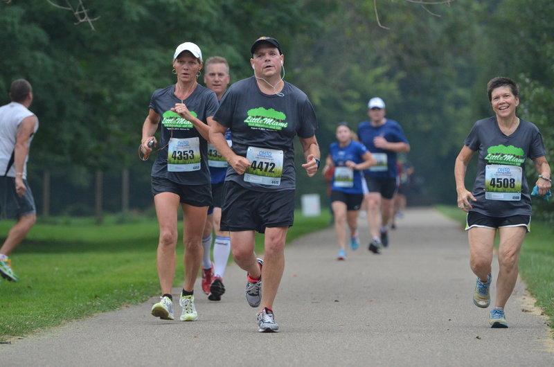 Runners finish the Little Miami Half Marathon
