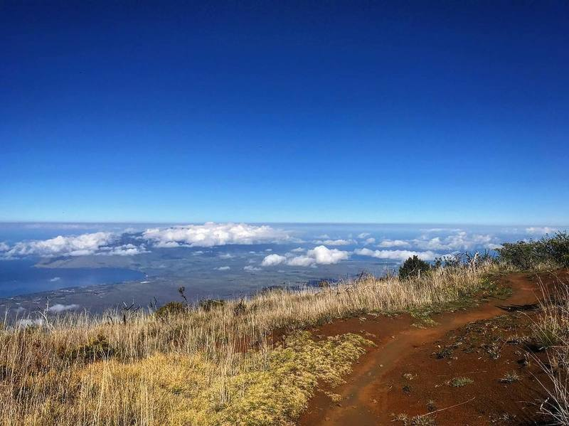 Intersection of Maui Skyline and Mamane Trail