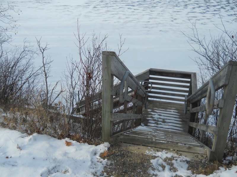 The fishing pier on Lake Twenty-one