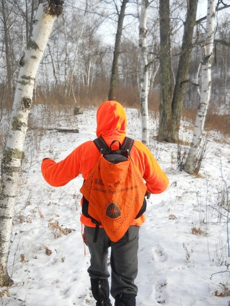Be sure to wear blaze orange in the fall during hunting season