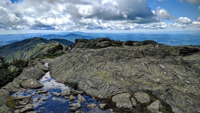 You can drive to the summit of Mt Mansfield or or hike the 2,500 ft in elevation over a one of kind 5.1 mile trail.... you know what to do!