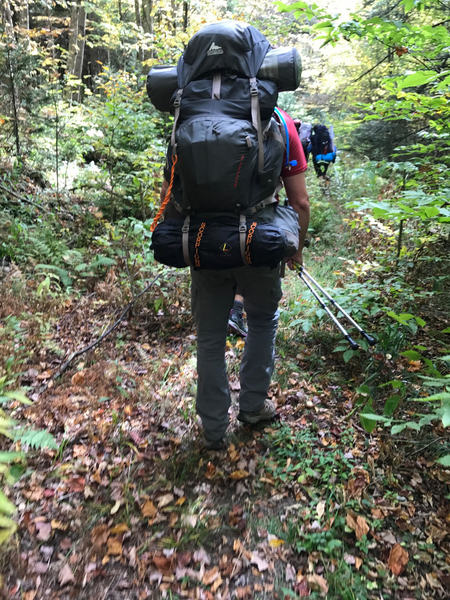 Following the largest hiking load EVER!