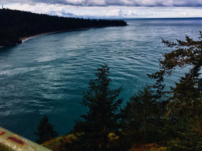 Looking N out of Deception Pass.