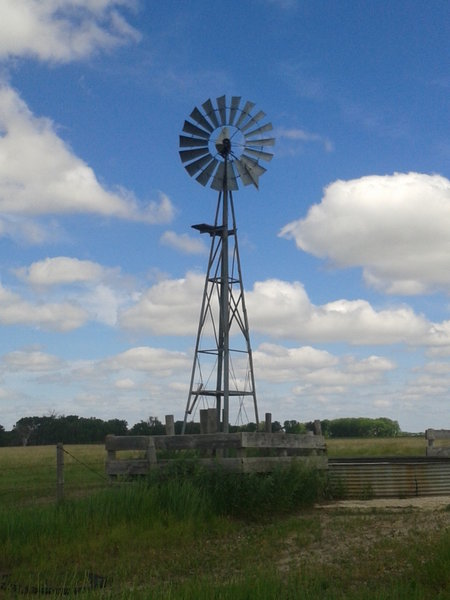 Windmill and stock tank