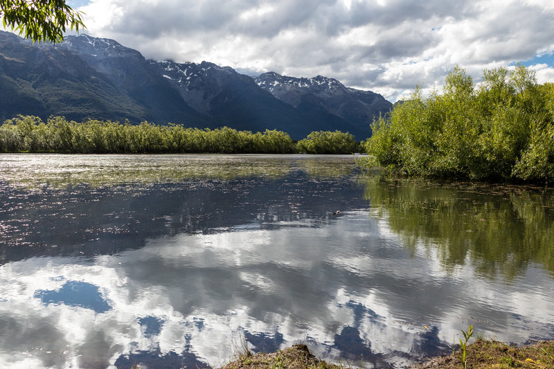 Reflections in the southern Glenorchy Lagoon