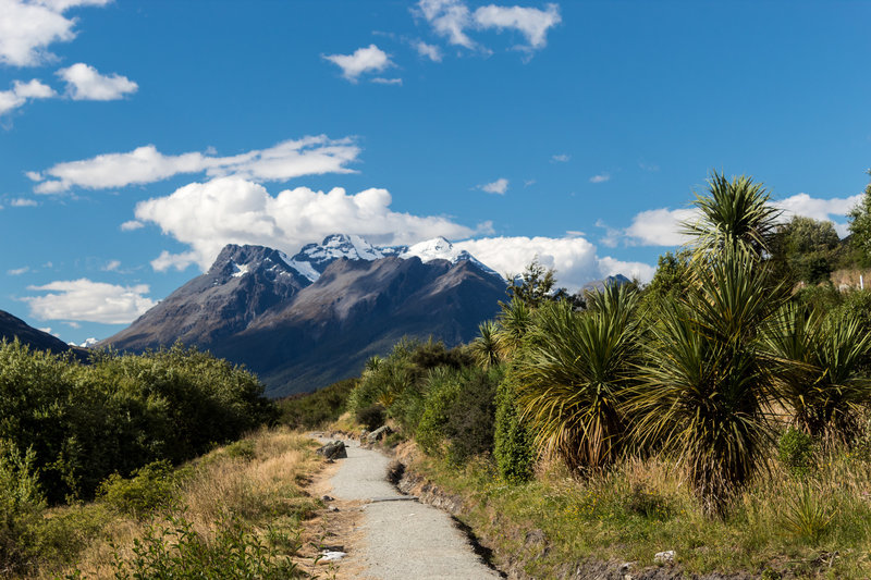 Snow covered Mount Earnslaw