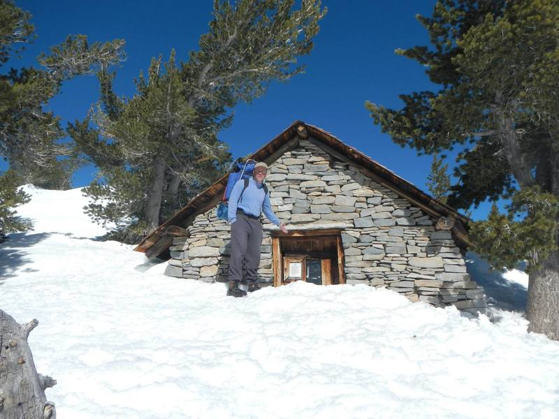 The cabin at San Jacinto peak - January 2017