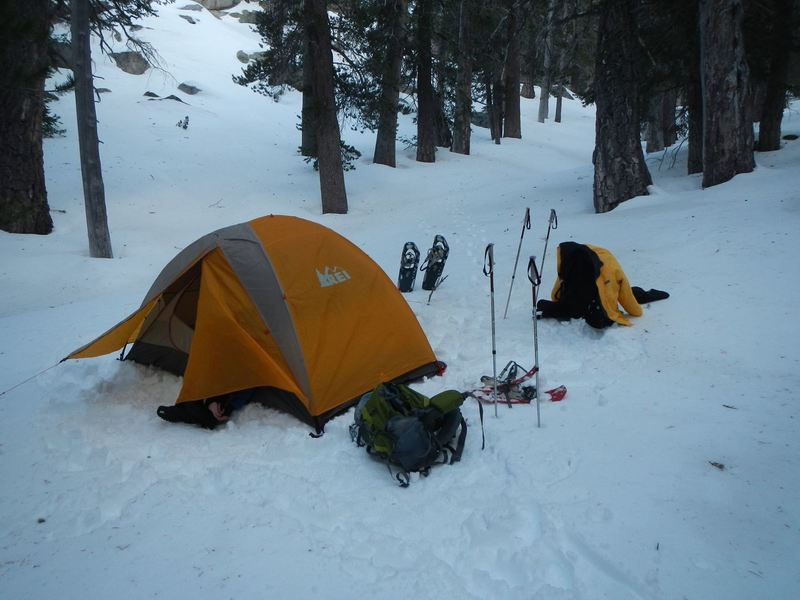 Campsite south of Round Valley - January 2016