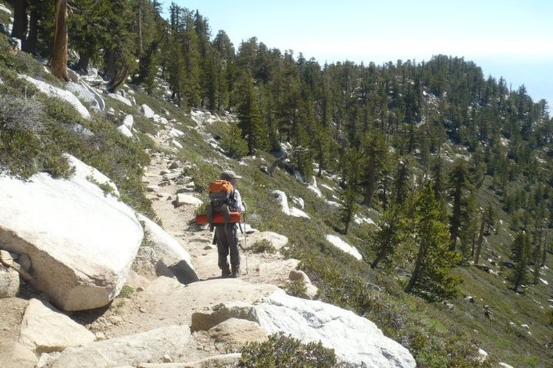 Between the peak and Round Valley - San Jacinto, August 2011