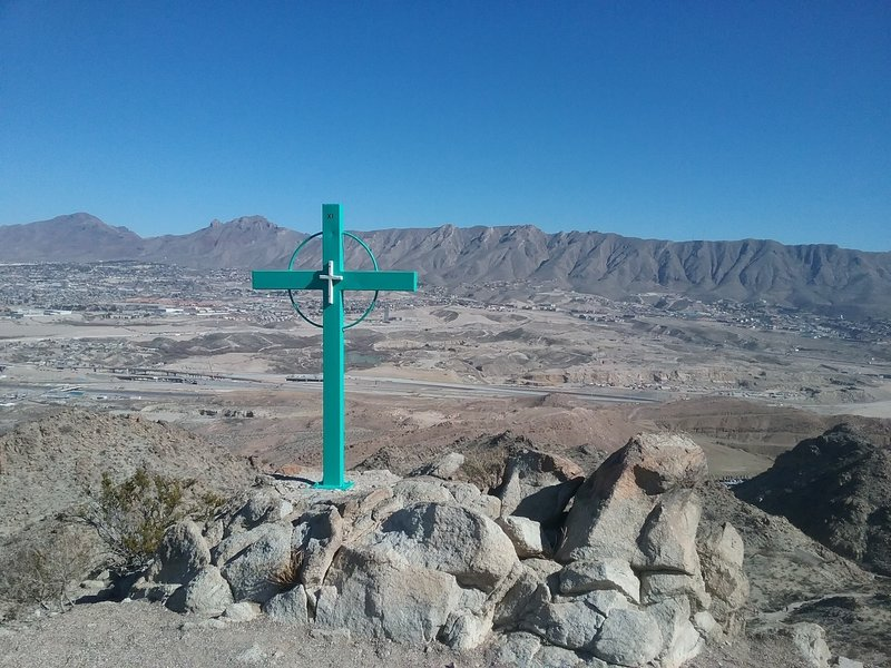 View of the Franklin Mountains and the valley.