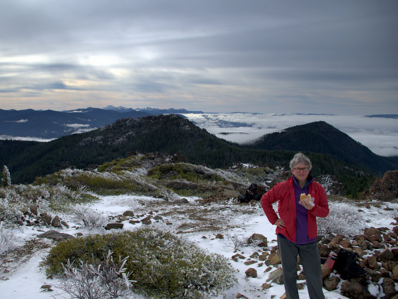 On Kerby's summit in February