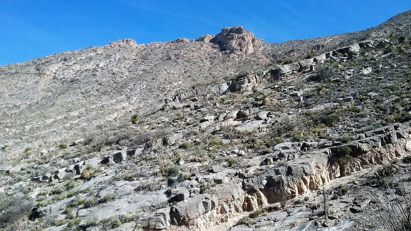 View of some of the rock formations.