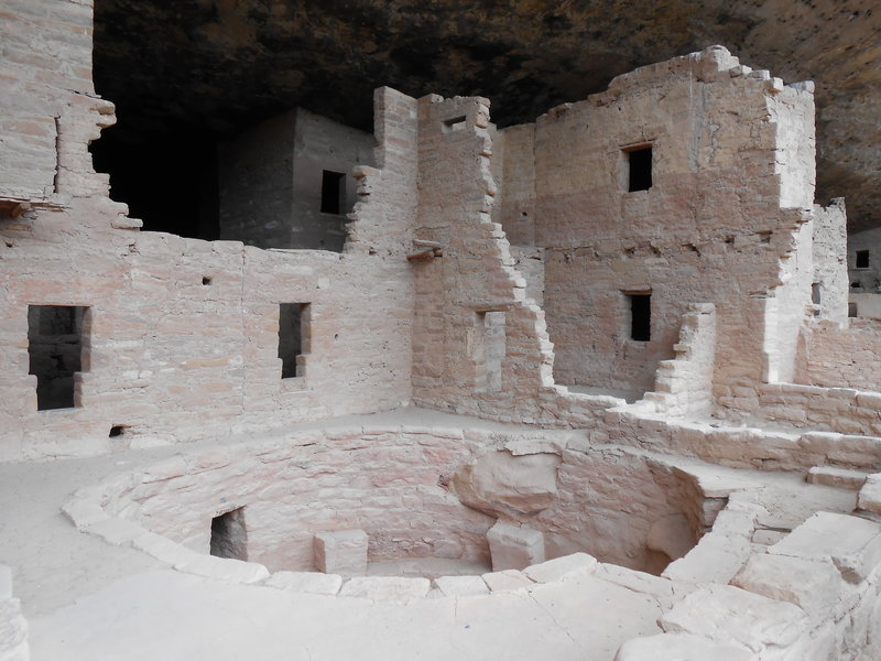 View of the Kiva and dwellings