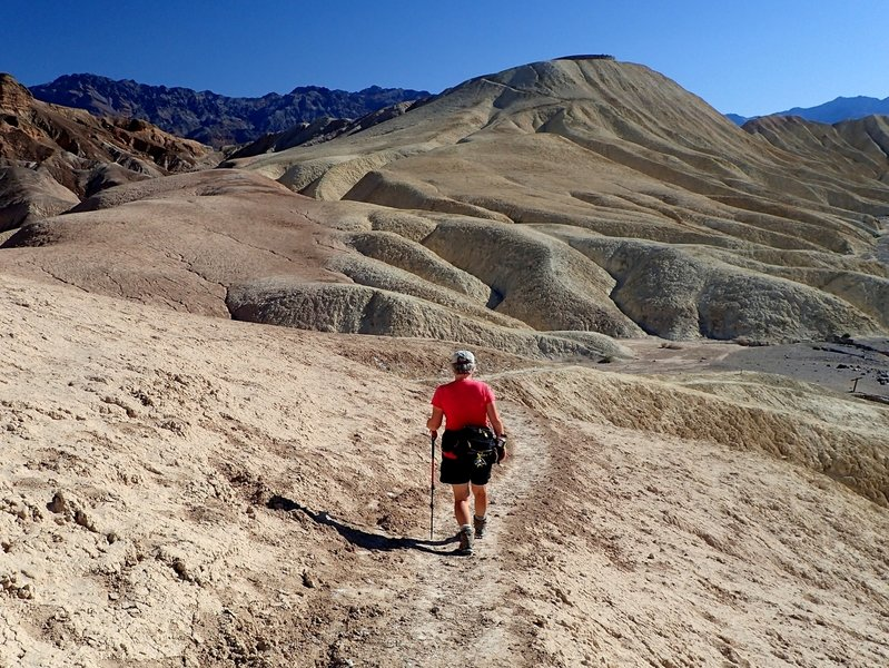Approaching Zabriskie Point on the Golden Canyon Trail