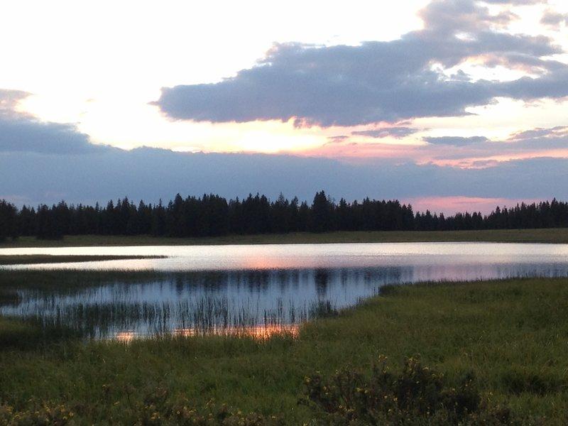 Sundown at Anderson Lake