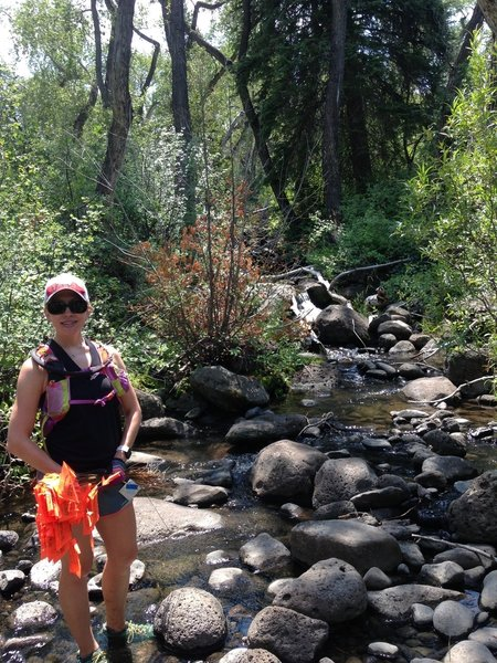 Marking the Grand Mesa 100 mile course