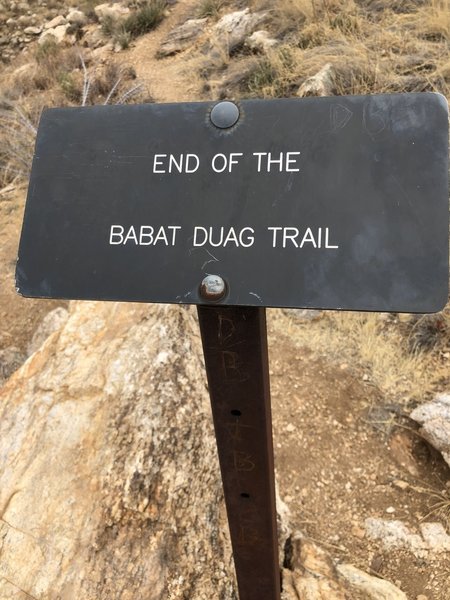 The true end of trail.