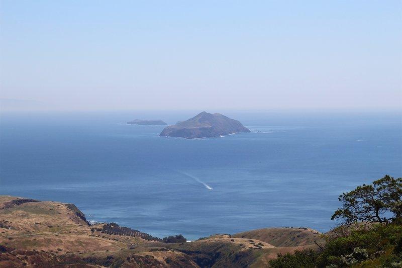 View of Anacapa Island from Montañon Ridge.