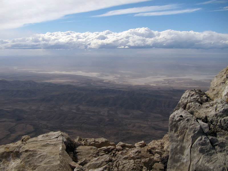 View from Guadalupe Mountains National Park, Guadalupe Peak Trail.