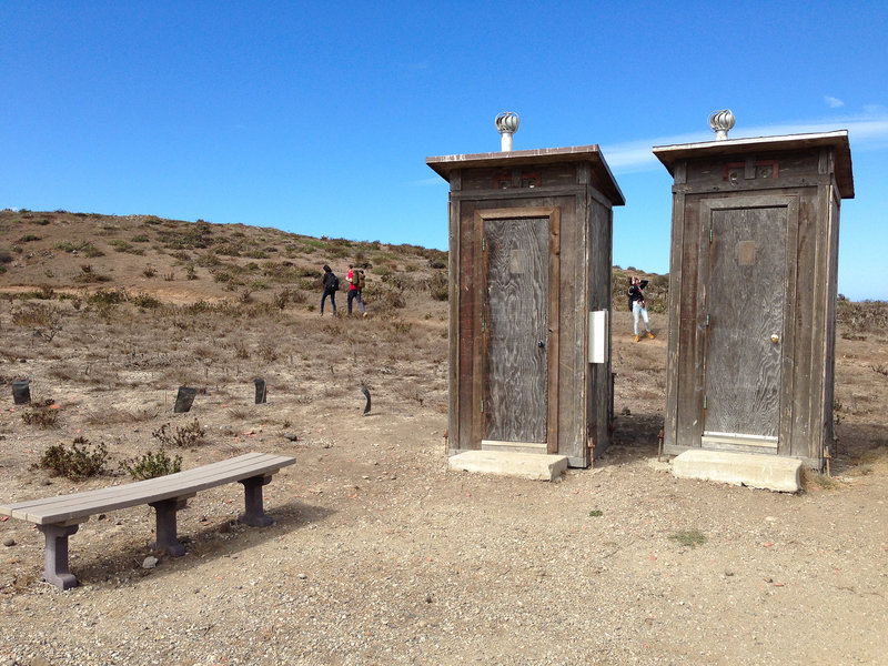 Vault toilets near the Anacapa Campground.