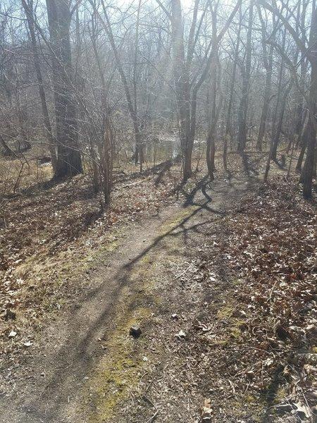 Turn around point on the Bull Run Trail