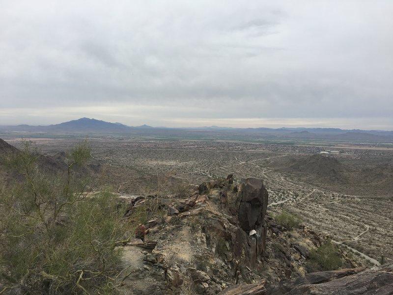 From the summit looking down toward Buckeye