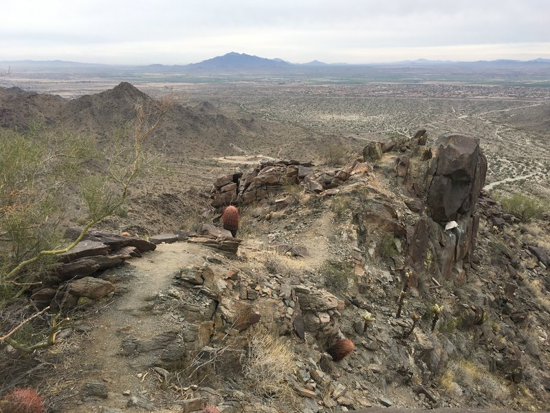 A view from the summit down toward Buckeye