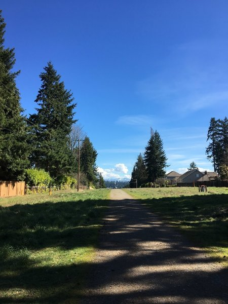 3 miles in looking east at the cascade mountains.