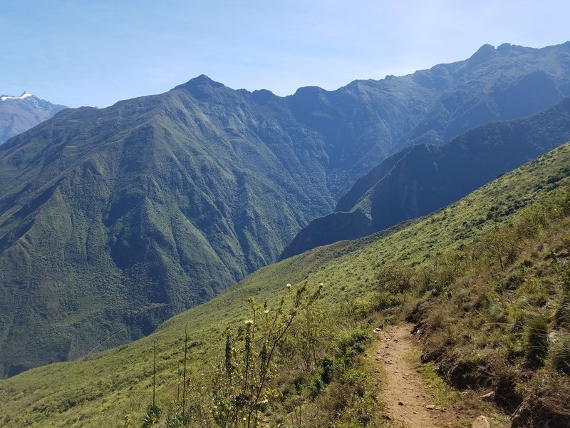 On the northern side of Choquequirao, heading down into the second valley