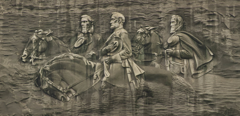 Close-up of Stone Mountain Bas-relief