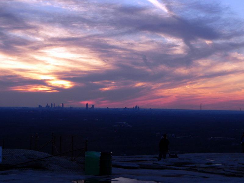 Sunset at Stone Mountain