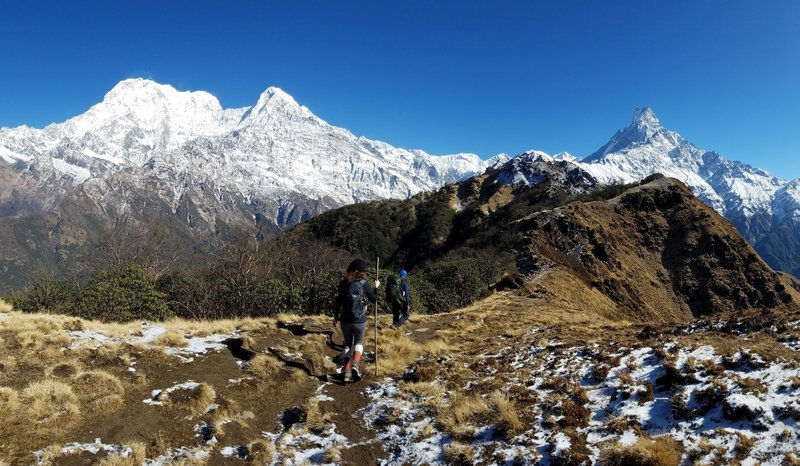 Left to Right: Annapurna South, Himchuli, and Machapuchare