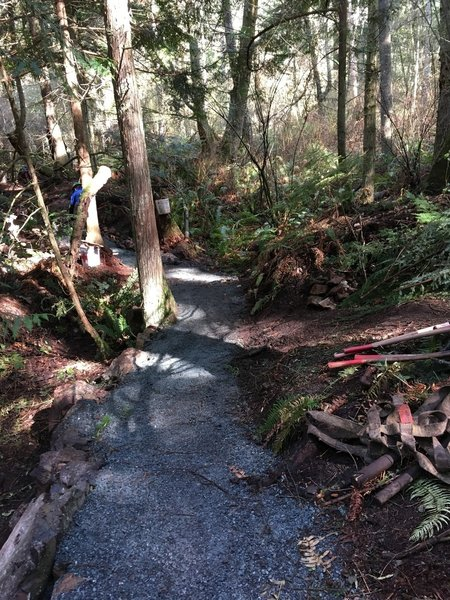 The trail after it has been graveled.