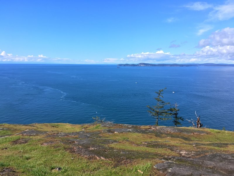 Looking at the San Juan Islands, and Canada.