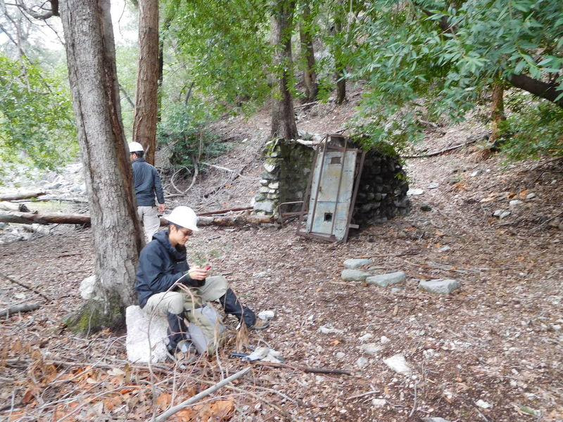 Small stone building in Bear Canyon