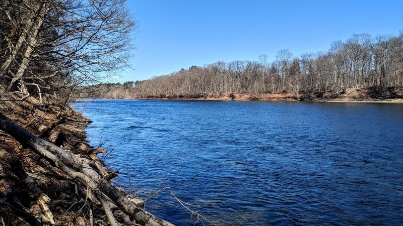 A pre-spring view of the Delaware River off of McDade Trail