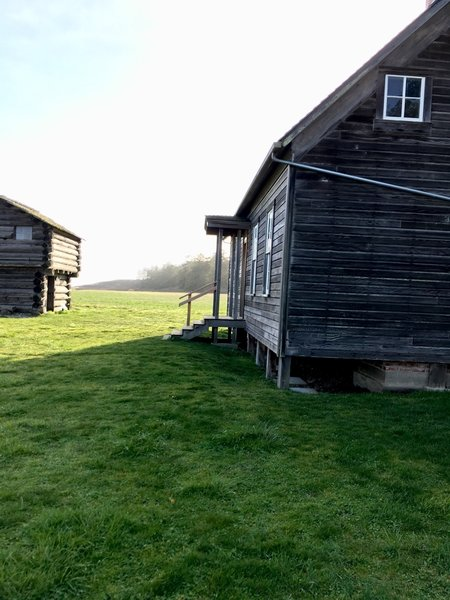 The house and blockhouse.