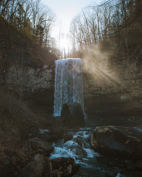The second of three waterfalls that can be seen just off the trailhead for the West Rim Loop trail. This one can be seen when hiking down into the gorge trail.