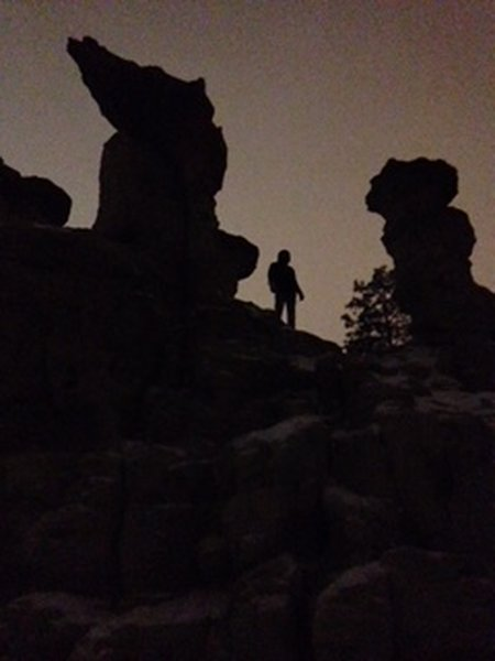 A little night hiking on Pulpit.