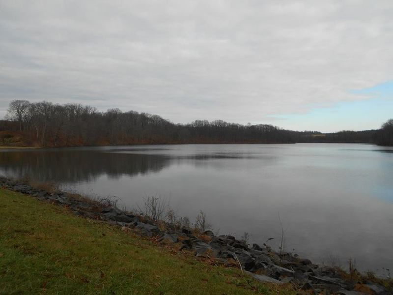 Wolf Run Lake from dam