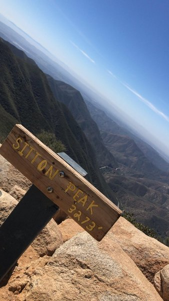 Sitton Peak sign