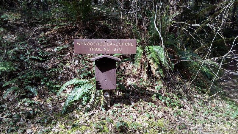 Trail marker near campground