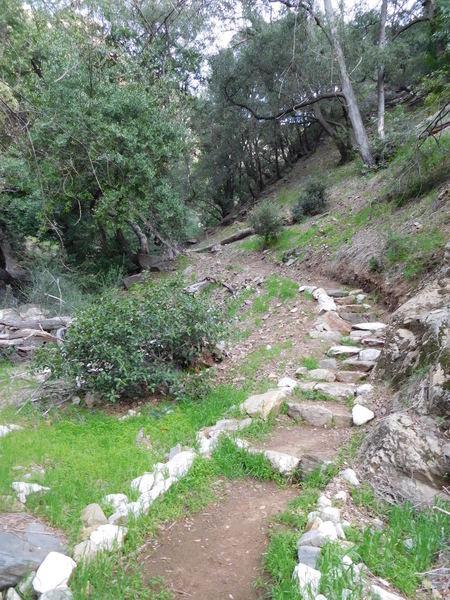 Restored Dawn Mine Trail in Millard Canyon