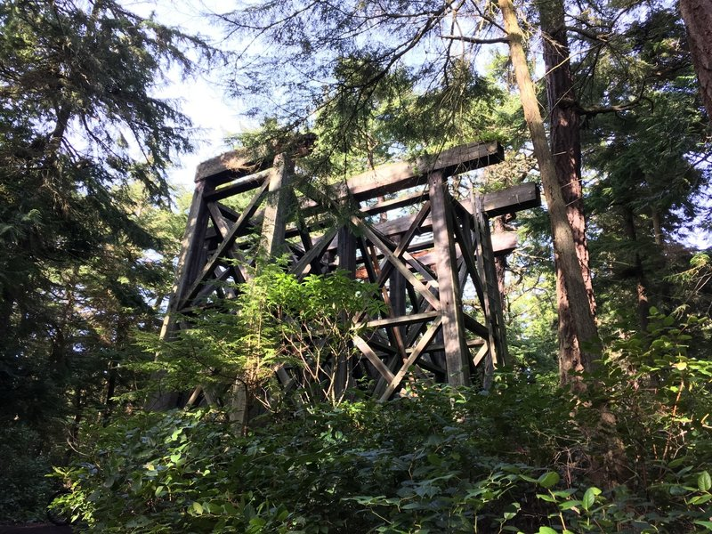 This is the old supports to the forts water tower.