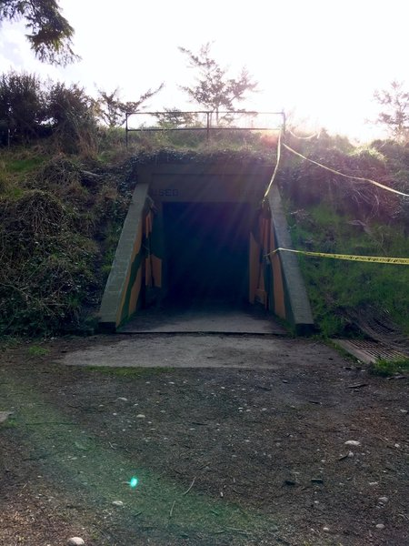 The east entrance to the battery.