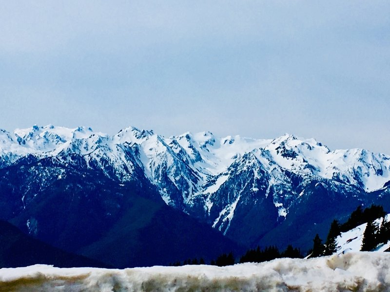 The Olympic Mountains.
